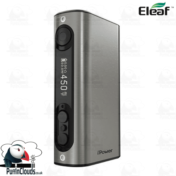 Eleaf iStick Power 80W Mod - Brushed Silver | Puffin Clouds UK