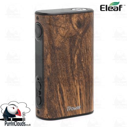 Eleaf iStick Power 80W Mod - Wood Grain   Puffin Clouds UK