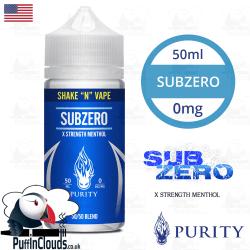 Purity SubZero Shake n Vape E-Liquid (50ml 0mg) | Puffin Clouds UK