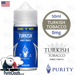 Purity Turkish Tobacco Shake n Vape E-Liquid (50ml 0mg) | Puffin Clouds UK