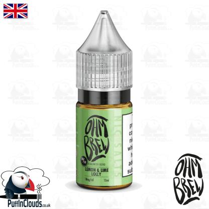 Ohm Brew Lemon & Lime Lolly Nic Salt E-Liquid 50/50 | Puffin Clouds UK
