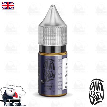 Ohm Brew Blueberry Blitz Nic Salt E-Liquid 50/50 | Puffin Clouds UK