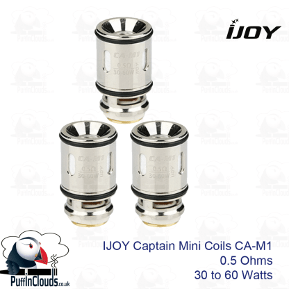 IJOY Captain Mini Coils CA-M1 (3 Pack) and CA-M2 | Puffin Clouds UK