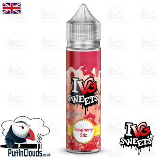 IVG Raspberry Stix Short Fill E-Liquid 50ml | Puffin Clouds UK