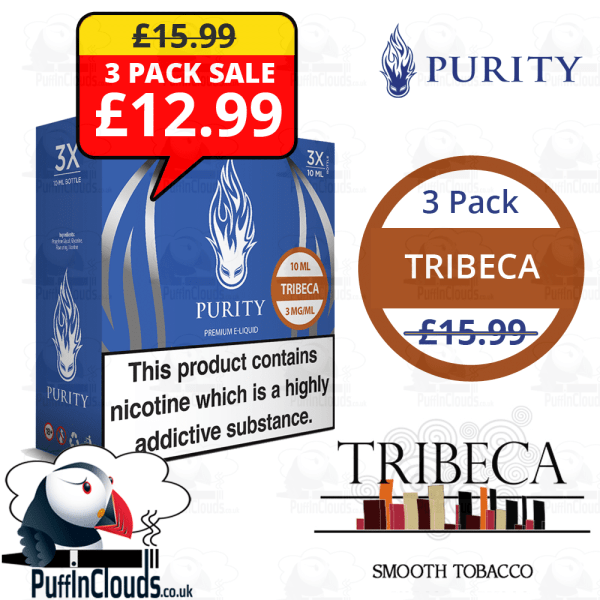 Purity Tribeca PG - 3 Pack | Puffin Clouds UK
