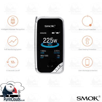 SMOK X-PRIV 225W Kit (UK Edition)   Puffin Clouds UK