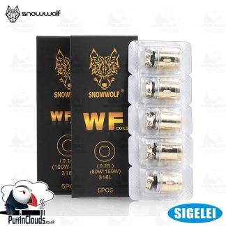 Sigelei SnowWolf Wolf Tank Coils WF/WF-H (5 Pack) | Puffin Clouds UK