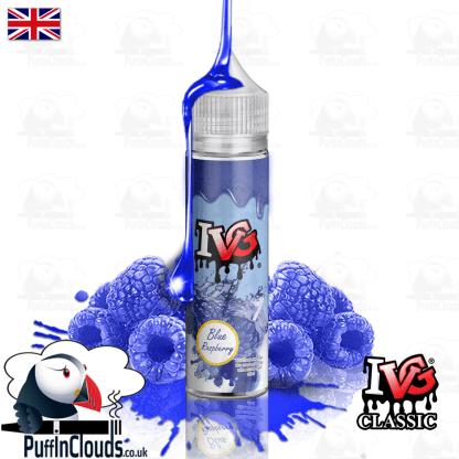 IVG Blue Raspberry Short Fill E-Liquid 50ml | Puffin Clouds UK