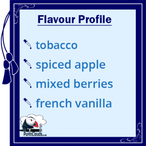 IVG Red Tobacco Short Fill E-Liquid 50ml flavour profile | Puffin Clouds UK