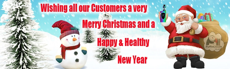 Merry Christmas Puffin Clouds UK