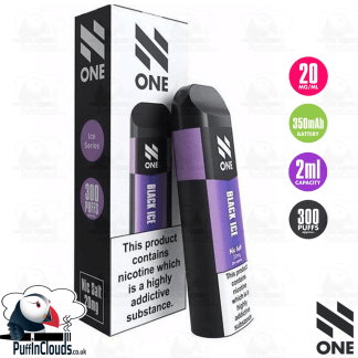 N One Disposable Pod - Black Ice Nic Salt 20mg | Puffin Clouds UK