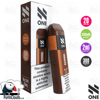 N One Disposable Pod - Tobacco Nic Salt 20mg | Puffin Clouds UK