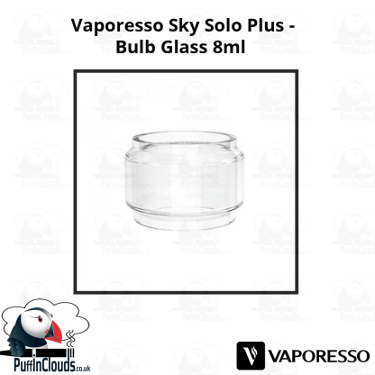 Vaporesso Sky Solo Plus Bulb Glass (8ml) | Puffin Clouds UK