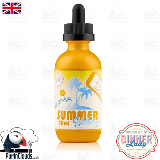 Dinner Lady Sun Tan Mango E-Liquid (50ml 0mg) | Puffin Clouds UK