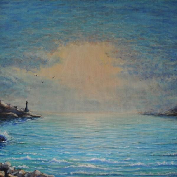 картина небо над морем