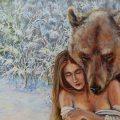 медведь маслом