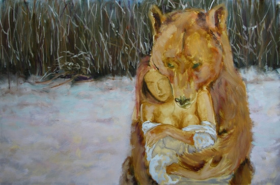 медведь поэтапно 4