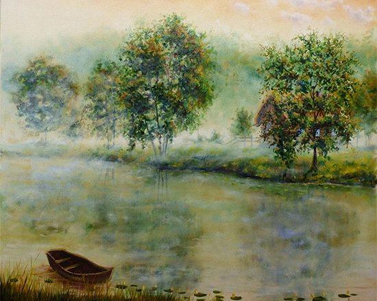 Туман как рисовать поэтапно