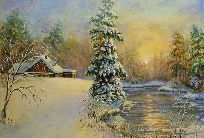 картина Андрея Пугача на выставке