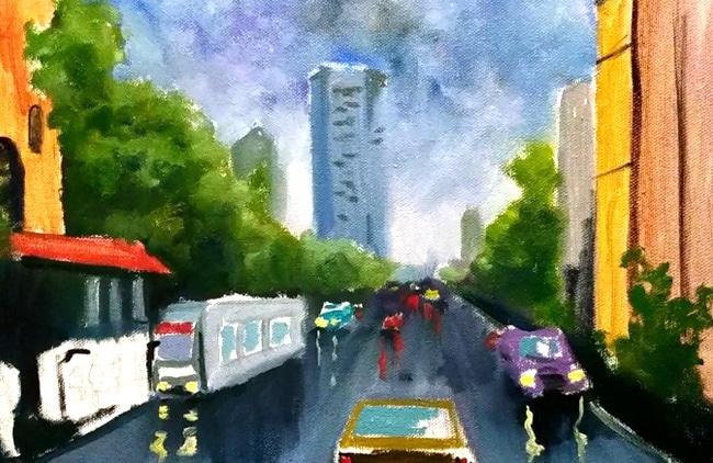 отражения в мокром асфальте как рисовать