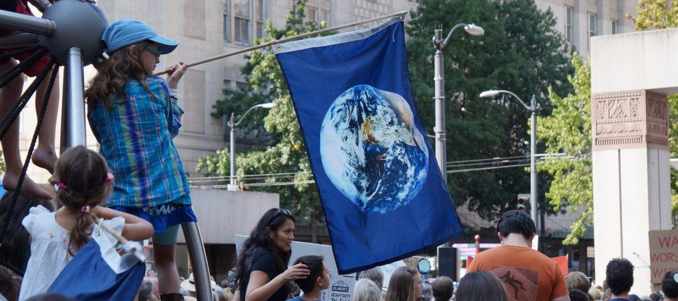Marchers assemble in Seattle.