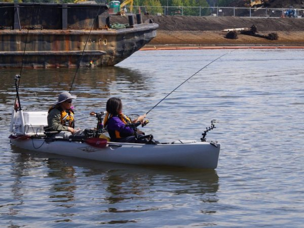Fishing on the Duwamish River.