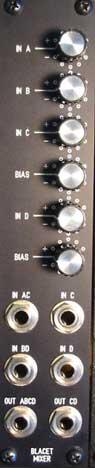 Blacet Mixer panel