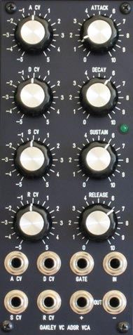 Oakley VC-ADSR/VCA panel