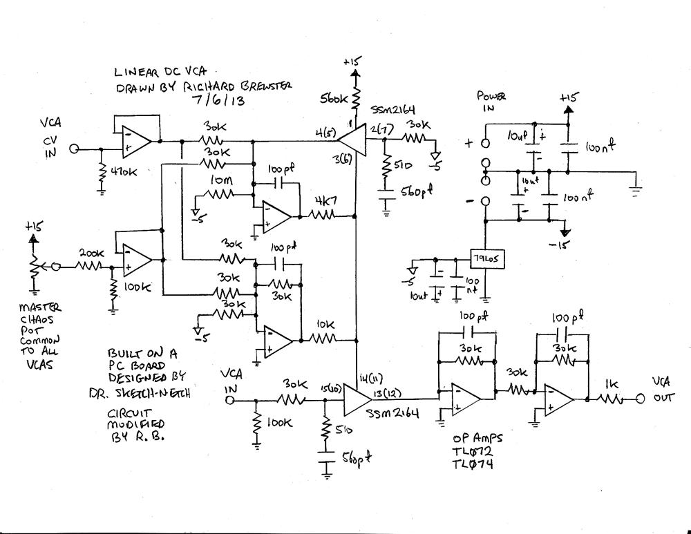 SSM2164 Dual VCA Board - Richard Brewster's Electronic Sounds