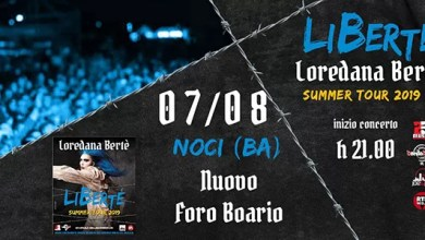 "Photo of [Music Live] LOREDANA BERTE' Summer Tour 2019 @ ""Nuovo Foro Boario"" Noci (Ba) – 7 agosto 2019"