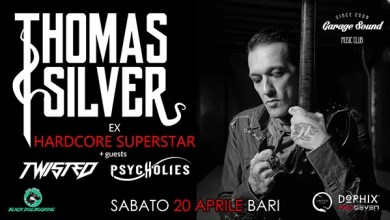 "Photo of [Music Live] Thomas Silver-Ex Hardcore Superstar + Twisted e Psycholies @ ""Garagesound"" BARI – 20 aprile 2019"