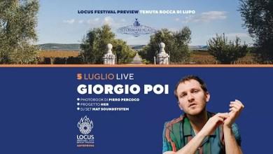 """Photo of [Music Live] GIORGIO POI in concerto – Anteprima """"Locus Festival"""" @ """"Cantine Tormaresca"""" Minervino Murge (BT) – 5 luglio 2019"""