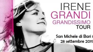 """Photo of [Music Live] Passa da Sammichele di Bari (BA) il TOUR di Presentazione del disco """"GRANDISSIMO"""" per 25 anni di IRENE GRANDI @ 28 settembre 2019"""