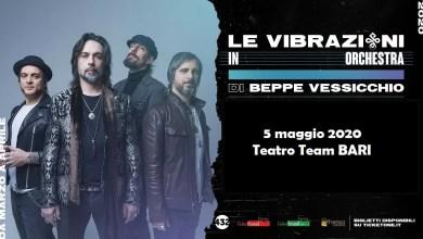 """Photo of [Music Live] Le Vibrazioni in Orchestra – si recupera il 5 maggio la data del 25 Marzo @ """"Teatro Team"""" BARI"""