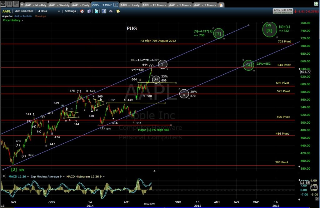 PUG AAPL 4-hr chart MD 5-30-14