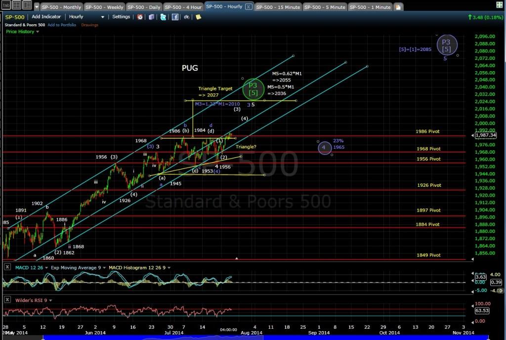 PUG SP-500 60-min Chart EOD 7-23-14