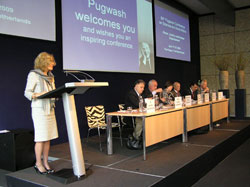 Dr. Jennifer Simons addresses the conference