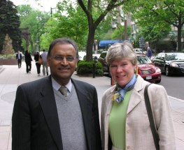 Jayantha Dhanapala and Rose Gottemoeller, Assistant Secretary of State and lead negotiator for the upcoming START talks, April 30, 2009