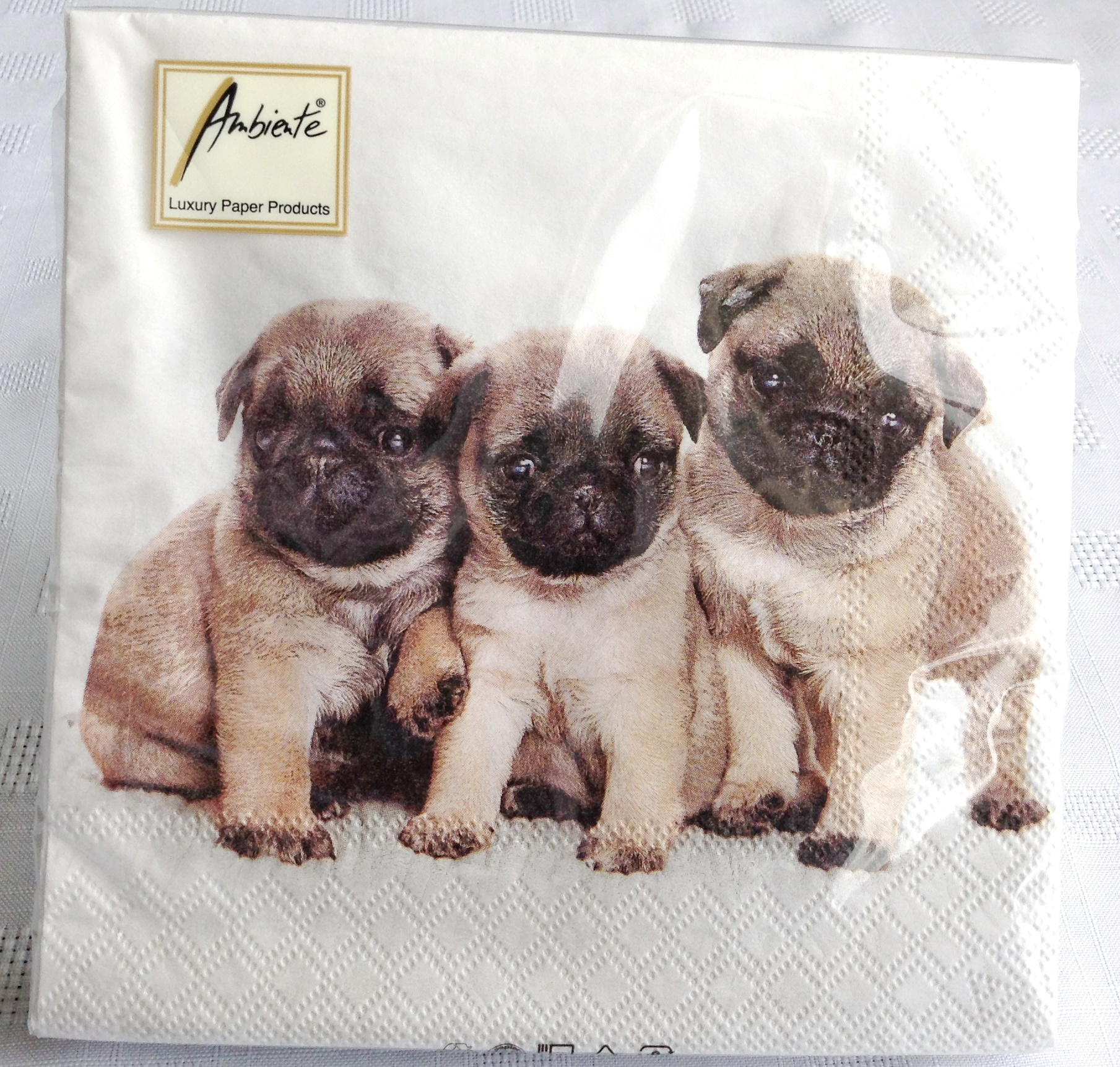 Pug Puppy Trio Napkins The Pug Dog Welfare Amp Rescue