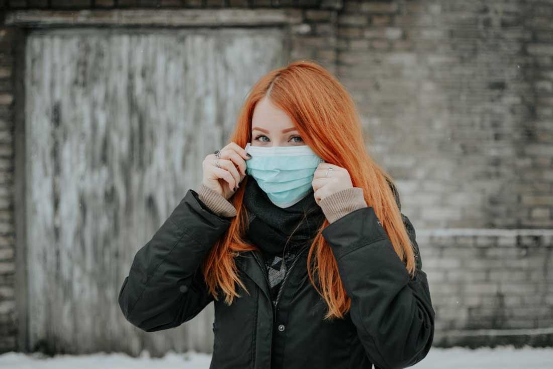 individually packaged face masks