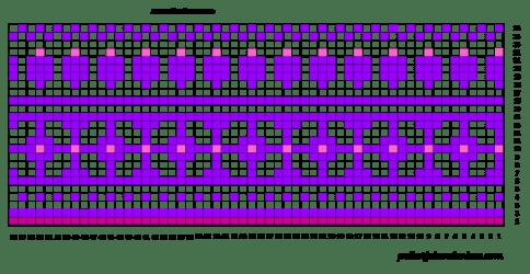 Pitkät kirjoneulesukat jalkapöydän kaavio