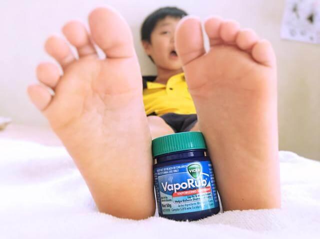 ヴェポラッブと足の裏