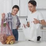 レジ袋とエコバッグ
