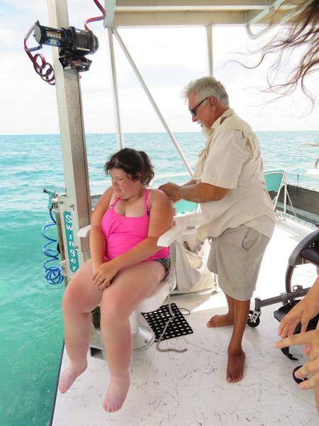 Snorkelen Key Largo met Captain Mick en Sabine op de lift