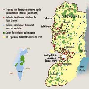Carte de la Cisjordanie - Natal Sisjordaani