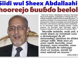 Siidi wul sheex abdallaahi hooreejo ɓuuɓɗo beelol