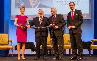 Knight of Freedom Award presented to the U.S. Senator Richard Lugar