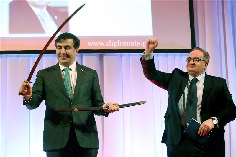 """Prezydent Saakaszwili """"Rycerzem Wolności"""""""