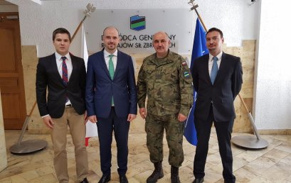 The meeting beetwen Pulaski Foundation and General Commander of the Armed Forces of the Republic of Poland
