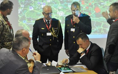 A war game involving NATO commanders and civilian experts